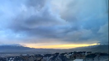 A very windy sunset time-lapse video over Utah