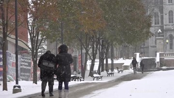 'I'm glad that it's here actually,' college student happy for recent snow