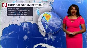 New tropical storm soaks Southeast coast