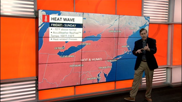 Sweltering Heat Wave to grip East through the weekend, but relief is coming