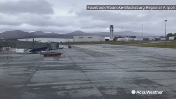 Airport gets their first dusting of snow