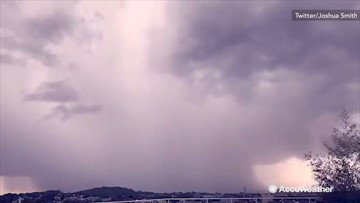 Foreboding timelapse of some serious rain