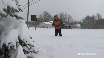Over 20 inches of snow for some Michigan communities in 24 hours!
