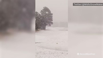 Earliest snow in the area since 1991