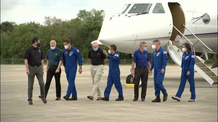 Astronauts arrive in Florida for SpaceX's second crewed flight to space