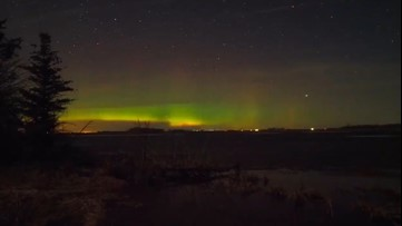 Northern lights dance across the sky in dazzling display