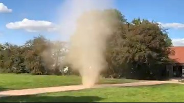 Rare Dust Devil Caught on Camera in the UK