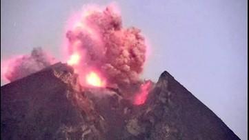 Indonesian Volcano Releases Massive Eruption