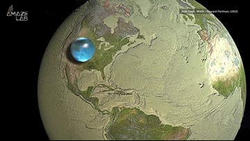 Here's What All of Earth's Water Looks Like in a Single Sphere