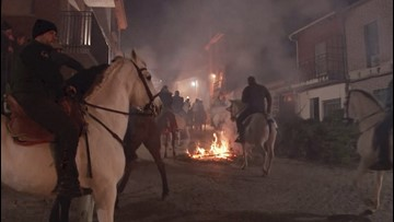 Watch as These Incredible Horses Jump Through Flames