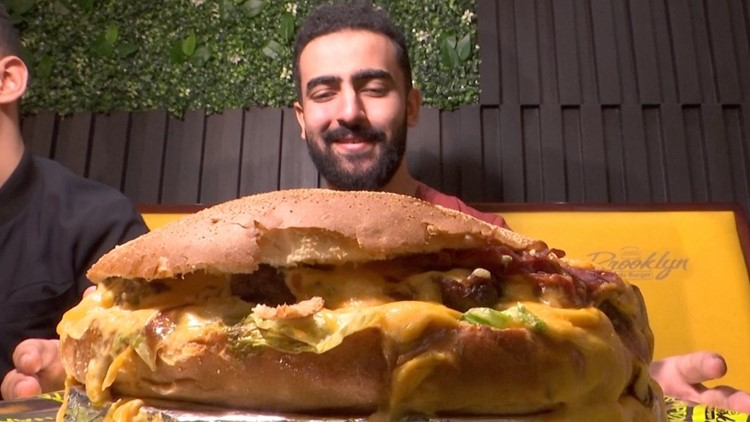 Watch as These Egyptians Attempt To Eat a 2.2 Lb. Burger!