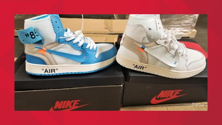 Nike shoes October 2019 counterfeit customs bust