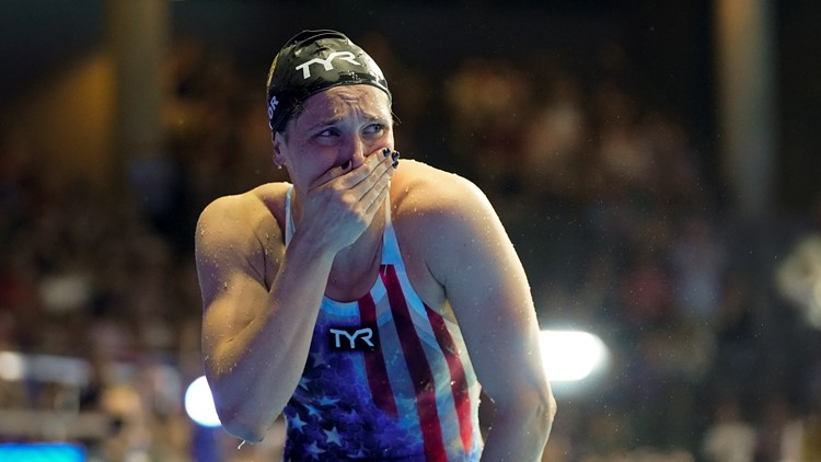 Watch: Annie Lazor's emotions flow after making Olympic team 2 months after losing dad