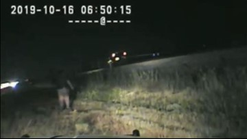 Dashcam: Utah trooper saves driver stuck on tracks as train approaches