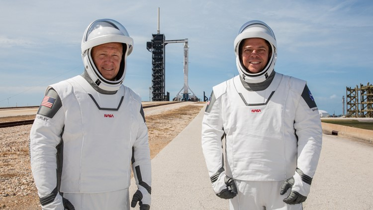 NASA SpaceX Demo2 mission astronauts