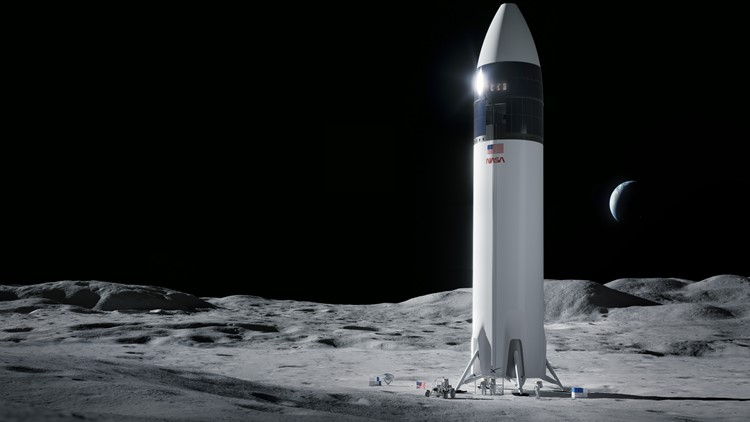 NASA selects SpaceX to land first woman, next man on Moon