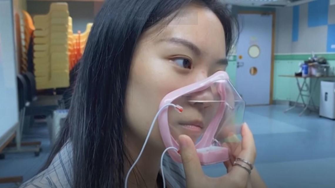 Transparent face mask enables 'barrier-free' communication