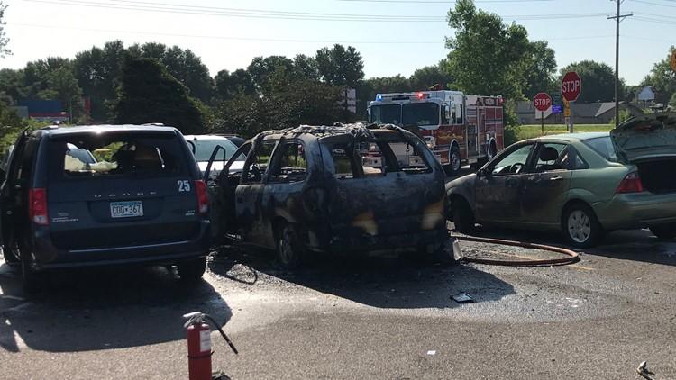 Fridley vehicle fire 1