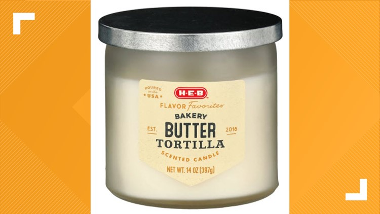 Butter tortilla-flavored candles now sold at H-E-B