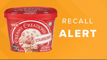 H-E-B recalls Creamy Creations Strawberry ice cream
