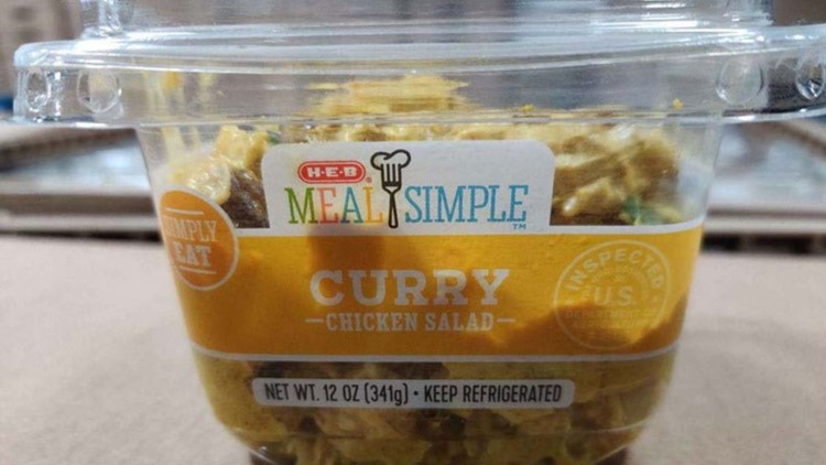 curry chicken salad recall