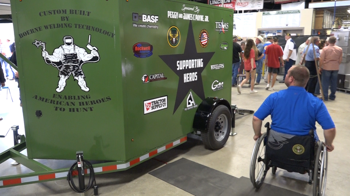 Welding students surprise disabled vet with custom hunting gift