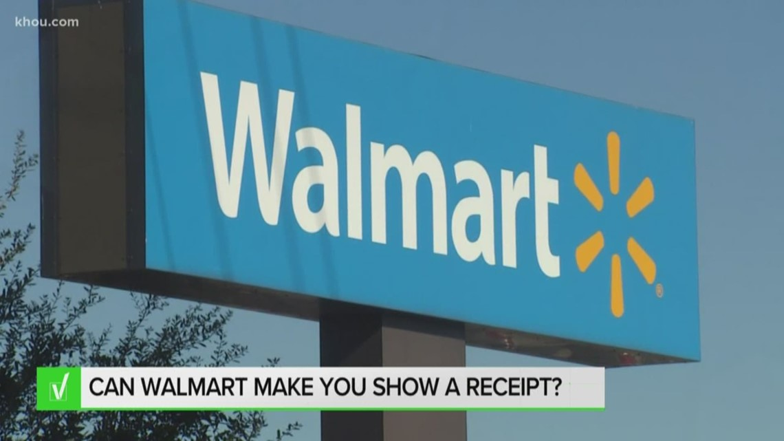 Verify: Can Walmart make you show a receipt?