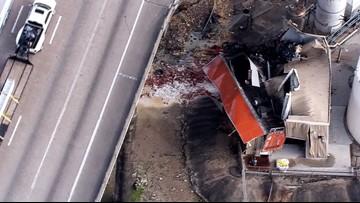 18-wheeler flies off 610 ship channel bridge, driver killed