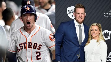 Alex Bregman's 2 home runs were an engagement gift for J.J. Watt and Kealia Ohai