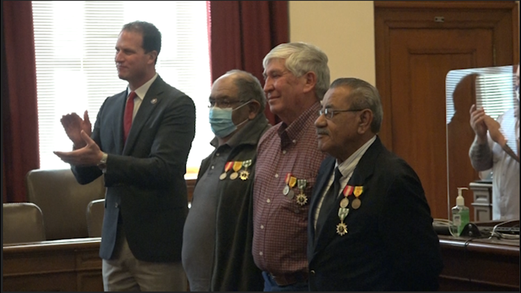 Three Vietnam veterans receive long overdue medals for their service