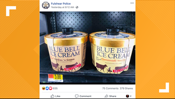 STOP THAT LICKING: This Texas Police department suggests another way to stop the 'Blue Bell lickers'