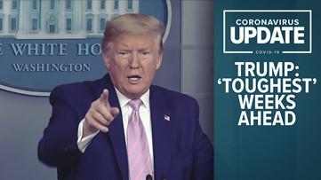 President Trump says 'toughest' weeks ahead in US as coronavirus spreads
