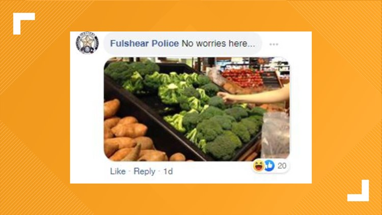 comment on blue bell licker from fulshear police 7-22-2019