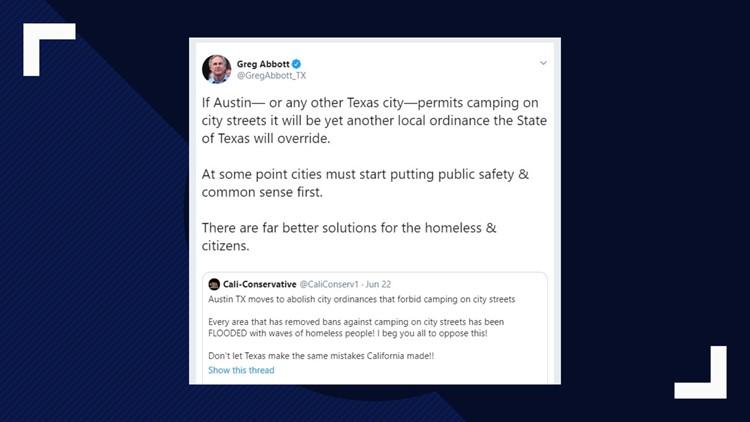 Abbott on Austin Homeless