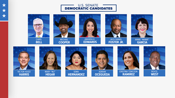 U.S. Senate Democratic candidates participate in primary debate on Feb. 18