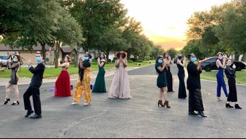 Round Rock teens hold socially distant cul-de-sac prom