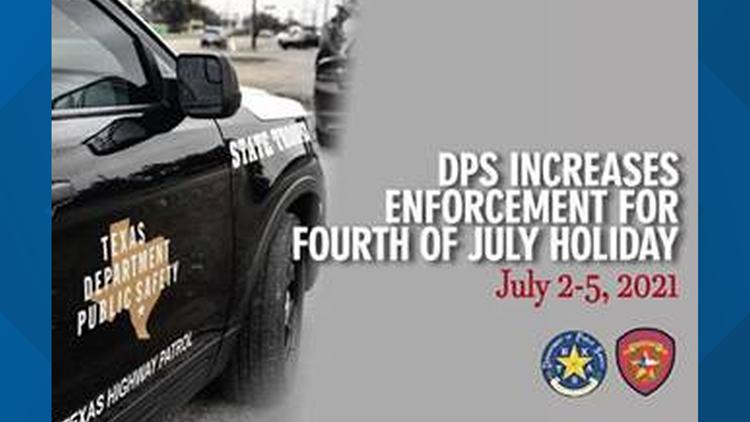 DPS increasing highway patrol for Fourth of July weekend