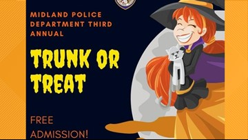 Midland Police hosting Trunk or Treat event