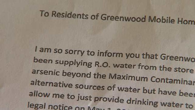 Greenwood Mobile Home Residents Forced to Move Due to Water Issues