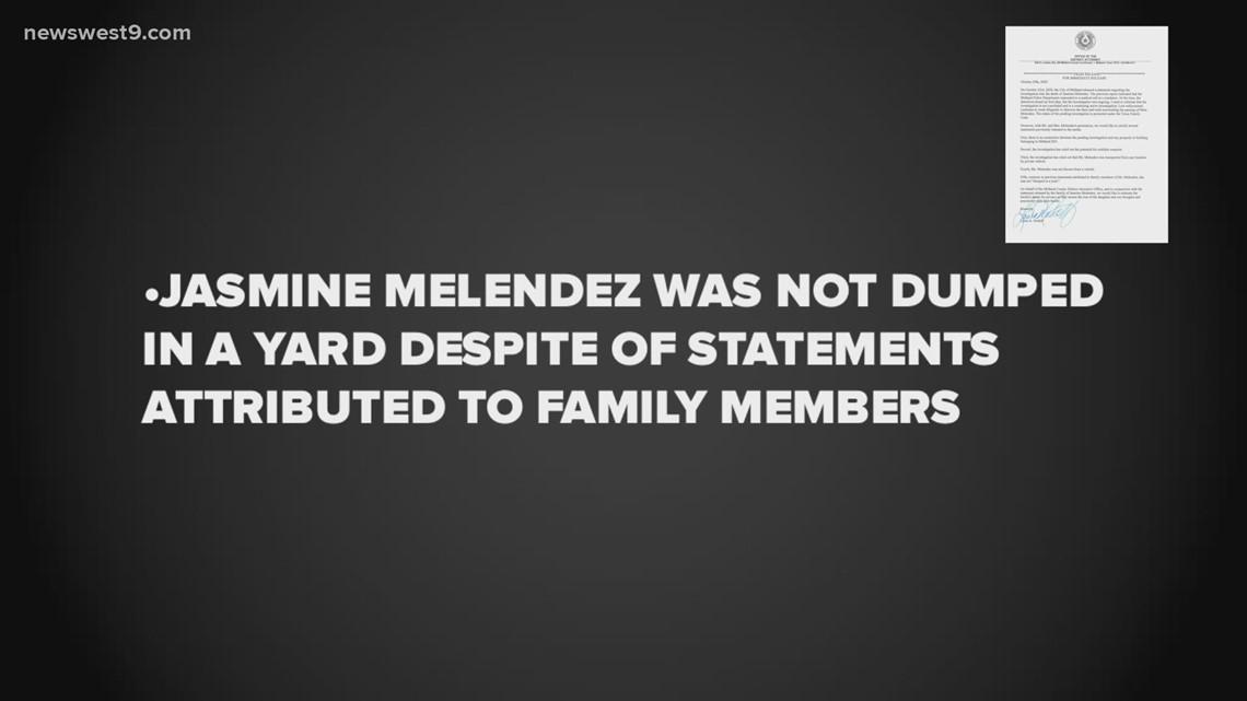 Midland DA, law firm release joint statements concerning Jasmine Melendez's death