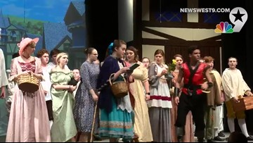 Behind the Curtain-Beauty and the Beast at Midland Christian
