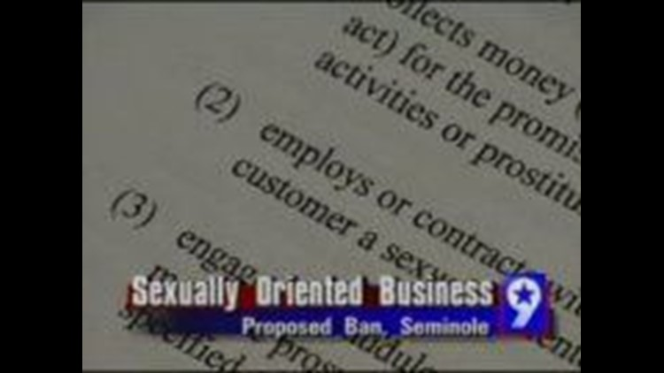 Move to Regulate Sexually-Oriented Businesses in Seminole