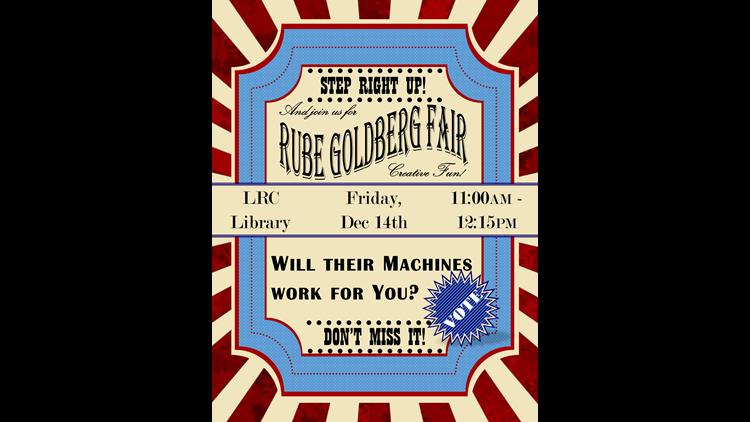 OCTECH students host science fair to demonstrate Rube Goldberg machine