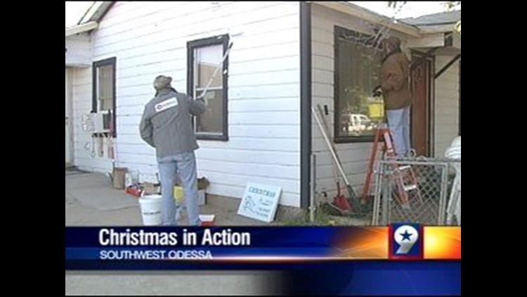 Christmas in Action Teams Up with Halliburton to Repair Woman's Home