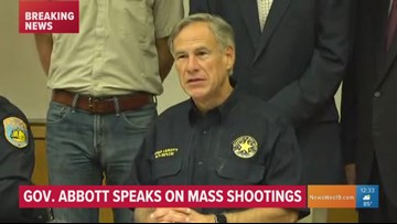 Gov. Abbott visits Odessa, speaks strongly about continued shootings in Texas, broader gun legislation