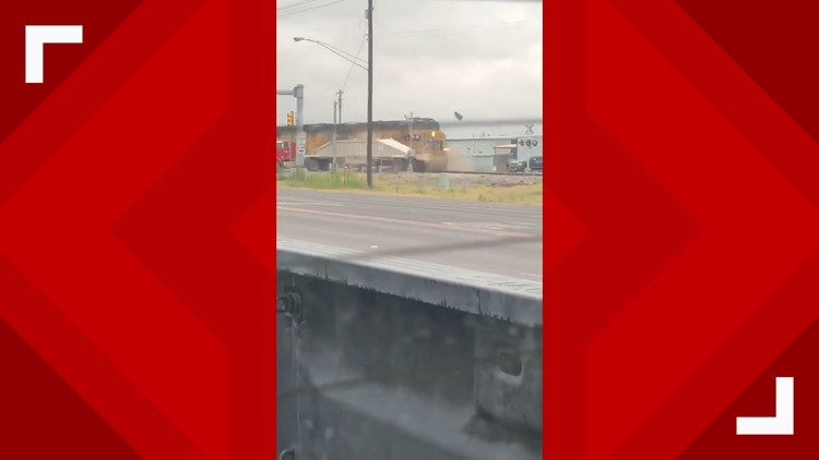 Train collides with truck trailer in Monahans