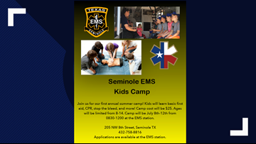 Local children learn what it is like to be a paramedic with 1st EMS Summer Camp