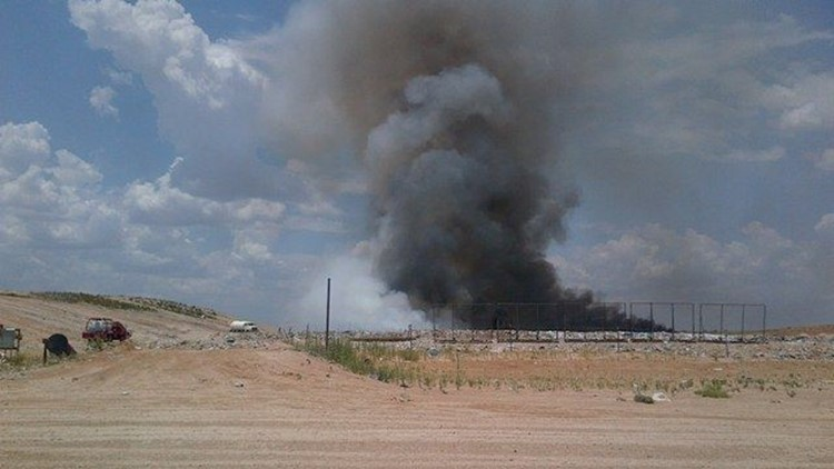 Landfill Fire Sparks Up in Midland County