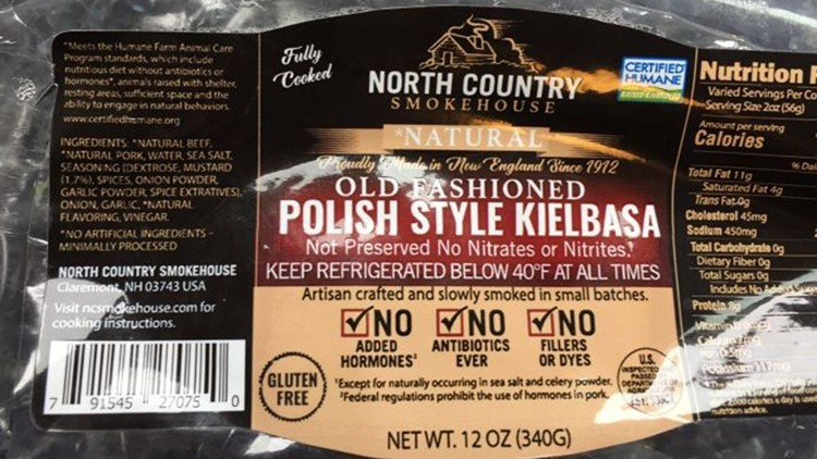 Sausages recalled for possible metal pieces inside