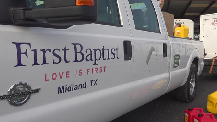 Aid after Ida: First Baptist in Midland driving supplies to Kenner, Louisiana